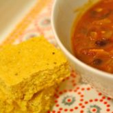 Vegetarian Chili and Corn Bread