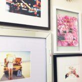 Kate Spade Bathroom Gallery Wall