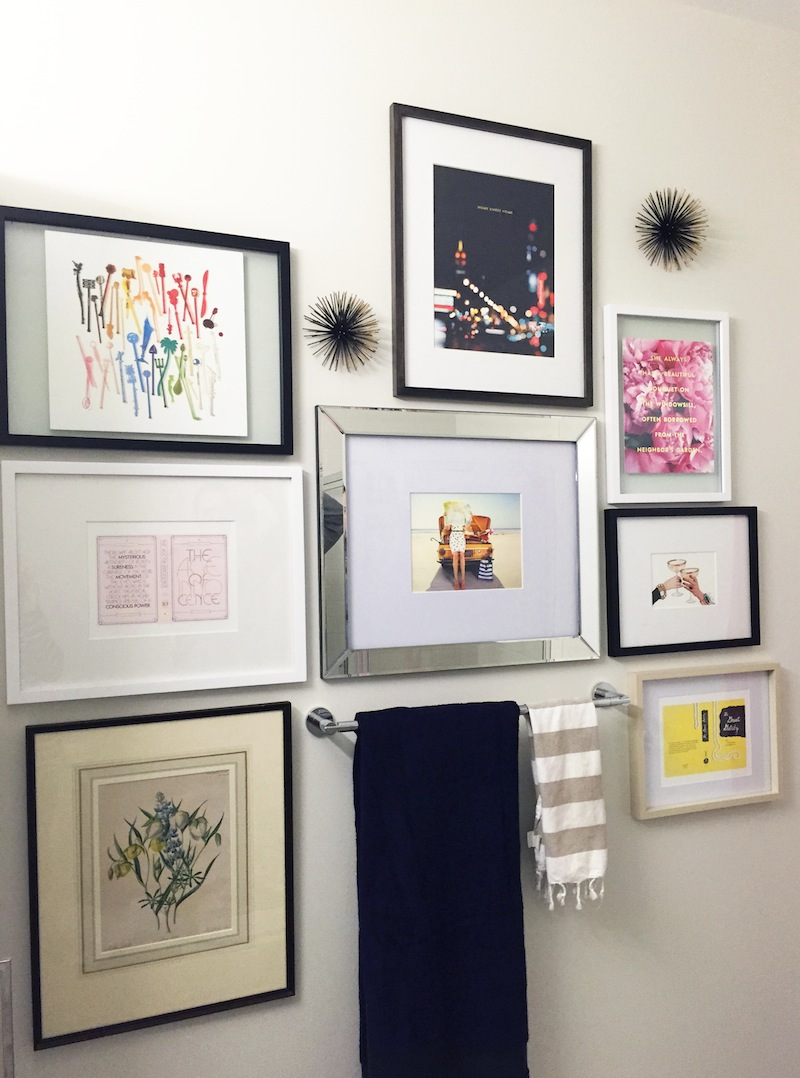 Images Of Bathroom Wall Decor : Kate spade gallery wall