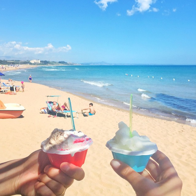 Gelato at the beach