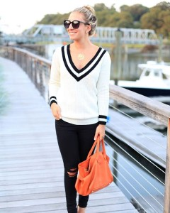 This deep vneck sweater on sale for under 40! ishellip