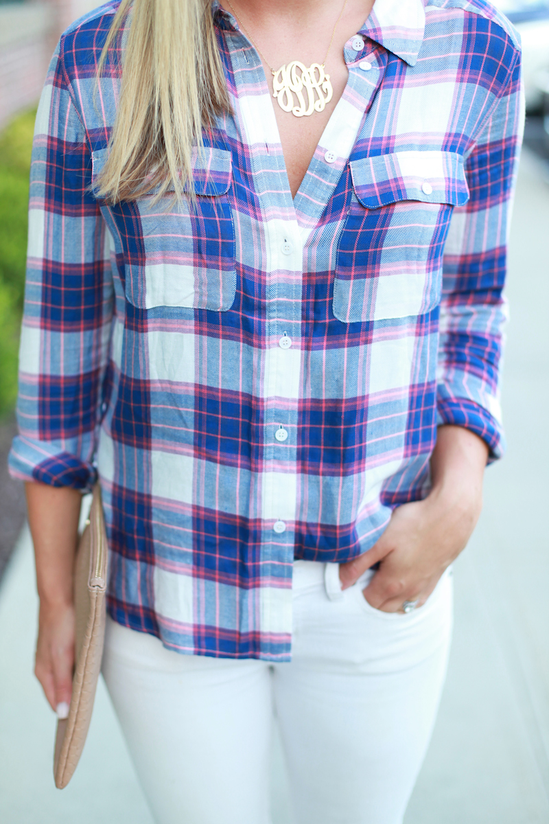 Plaid and Monogram