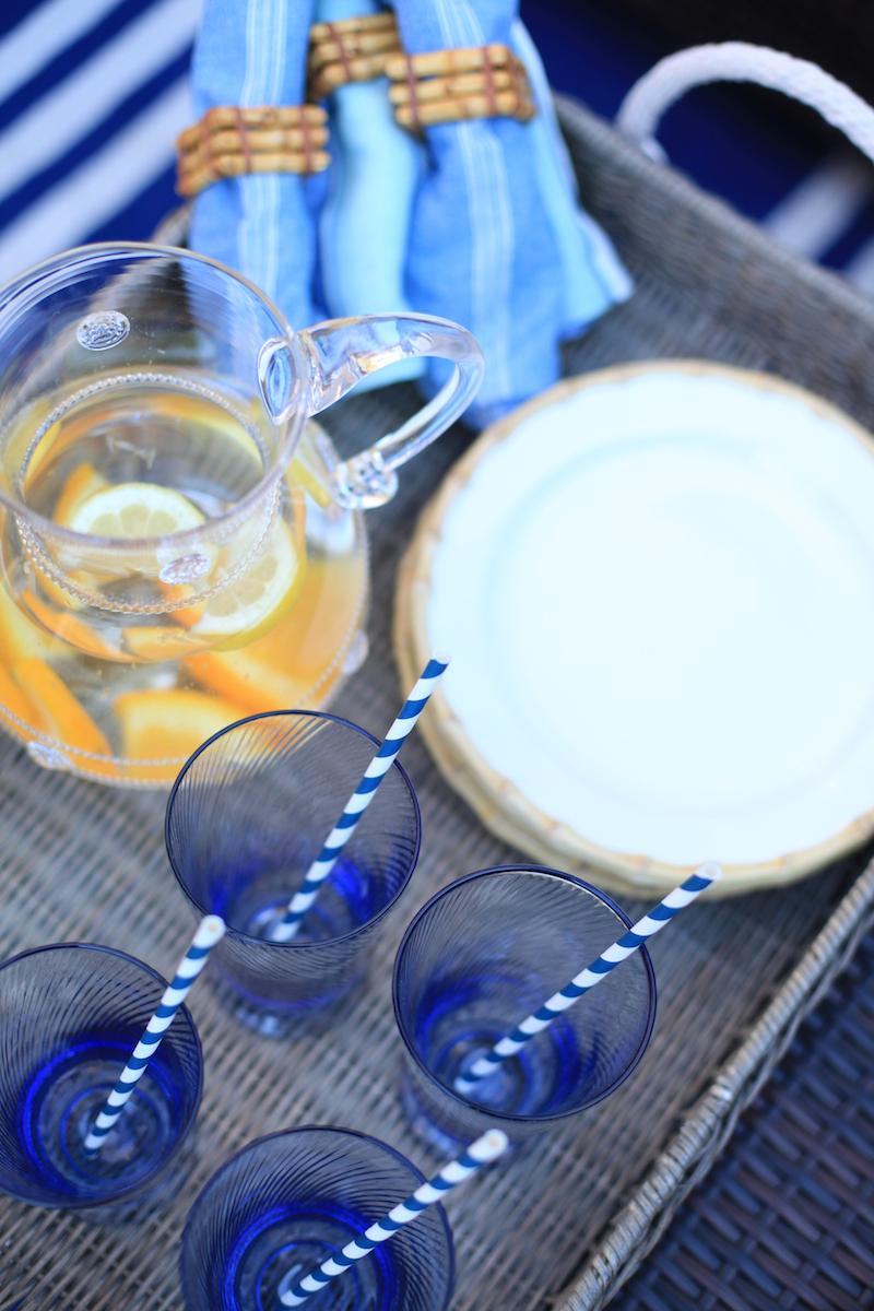 Blue Juliska glasses