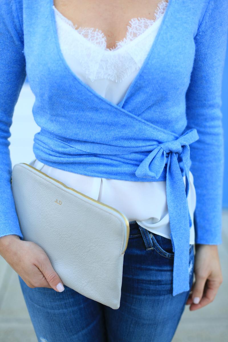 Wrap Sweater - Lemon Stripes