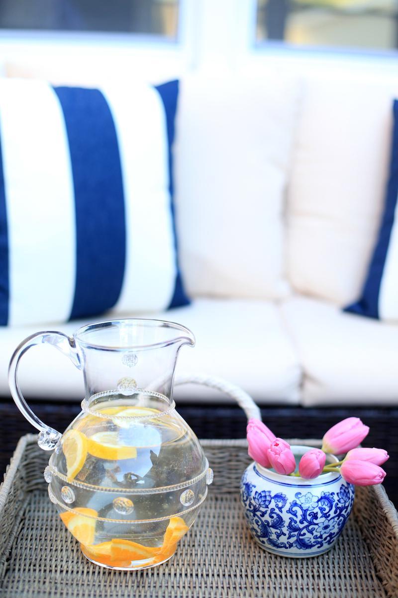 Juliska vase and ginger jar