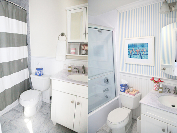 Lemon Stripes Bath Fitters Before and After