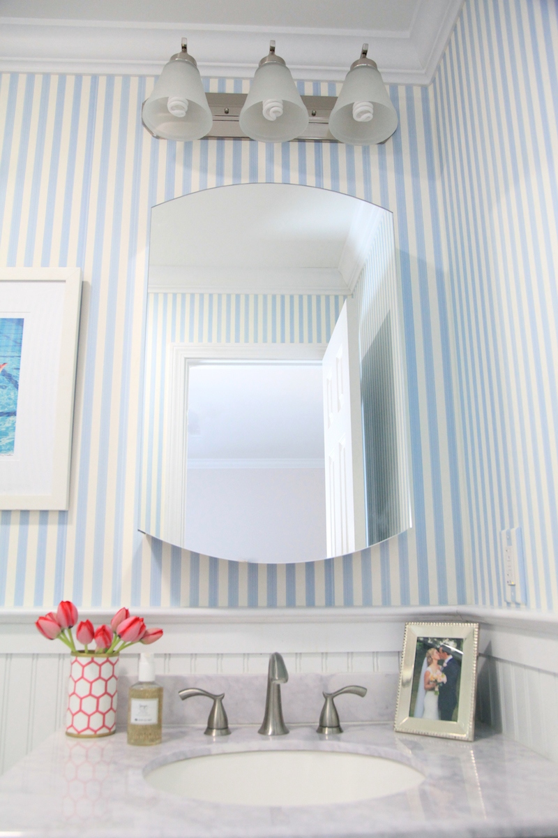 Striped Bathroom Wallpaper