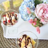 Grilled Pineapple Sundaes + DIY Pineapple Vase