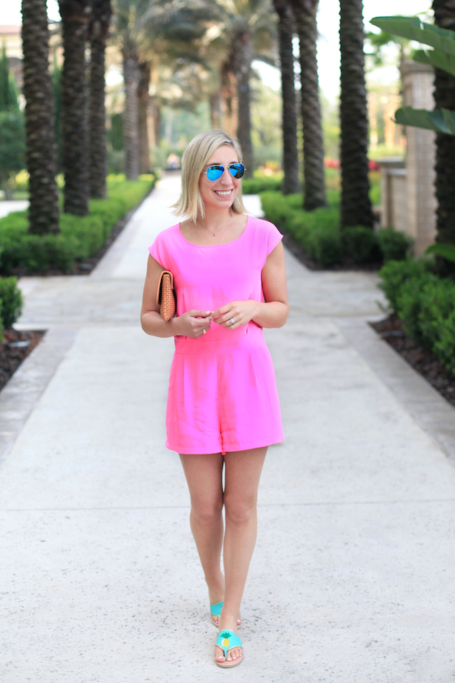 Hot pink Sail to Sable romper