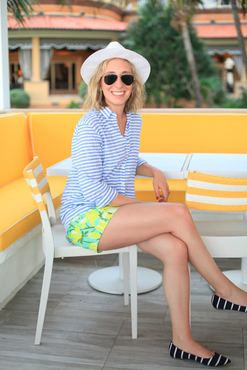 Lemon Stripes J.Crew in Palm Beach