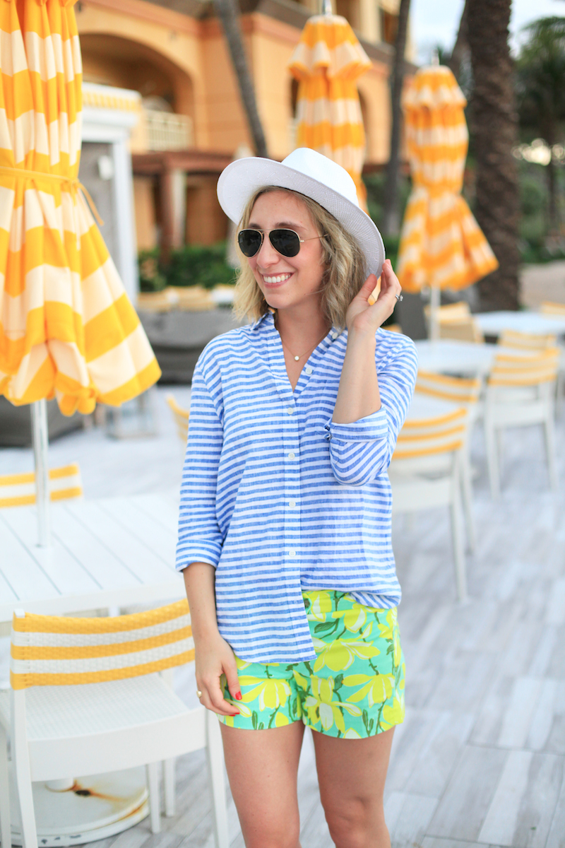 Lemon Stripes wearing J.Crew Factory