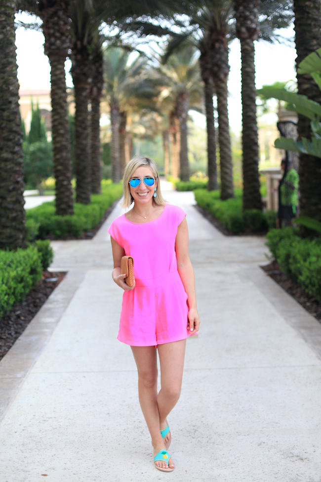 Pink Sail to Sable Romper