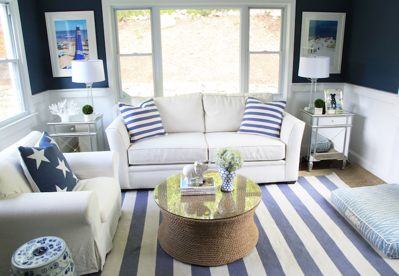 Preppy Striped Sunroom