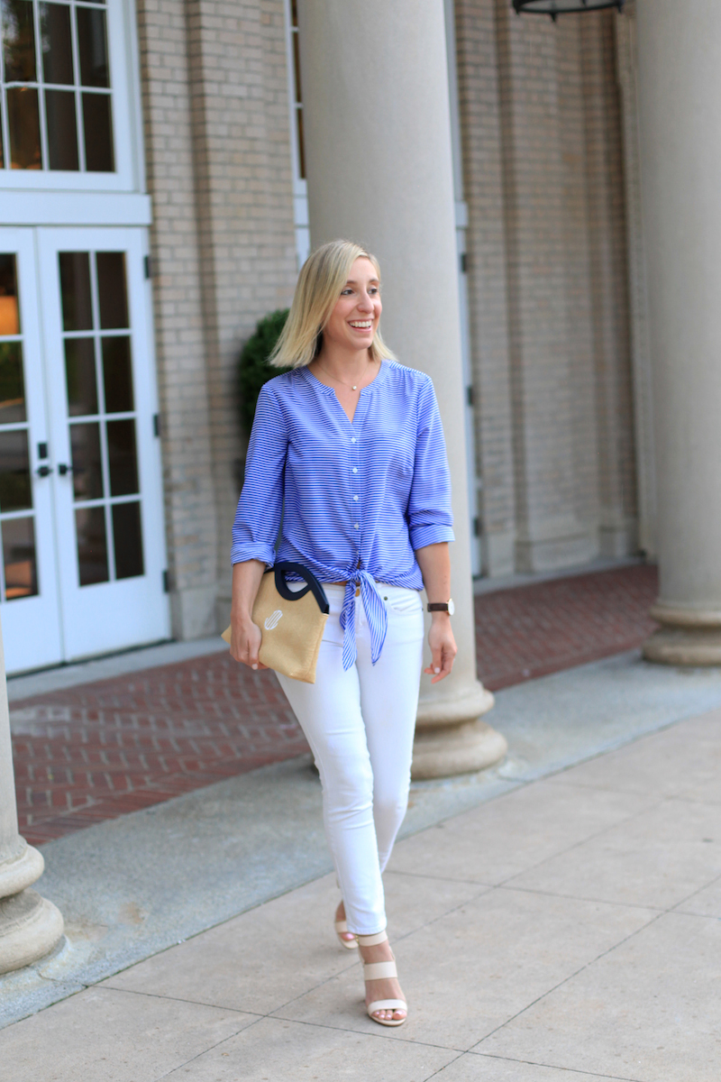 Preppy white and blue
