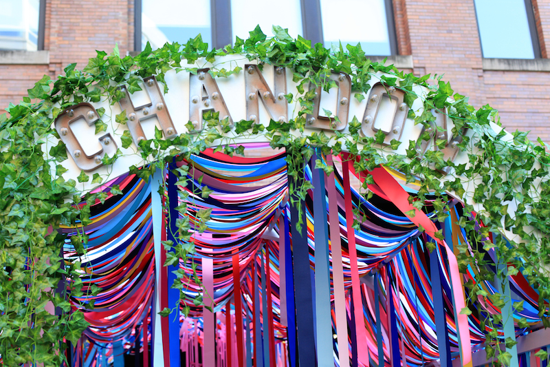 Chandon Ribbon Arch