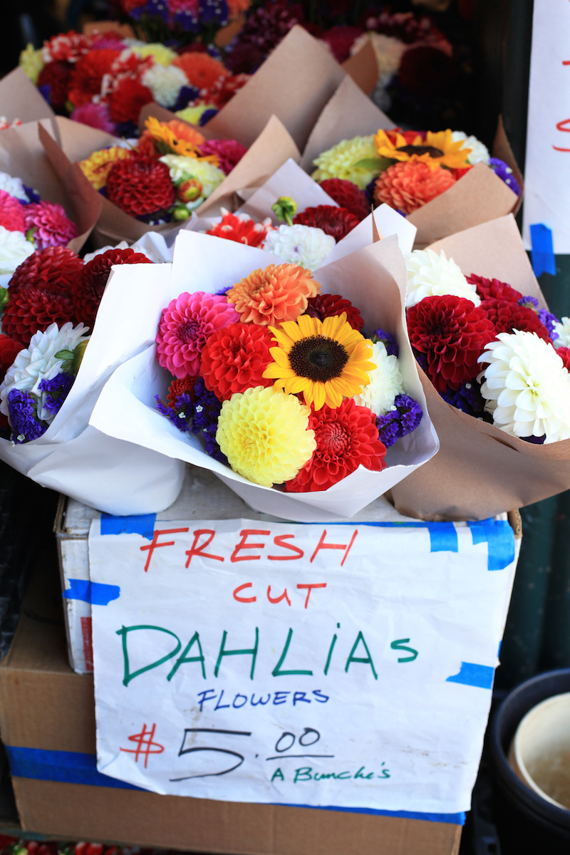 Dahlias at Pike Place Market