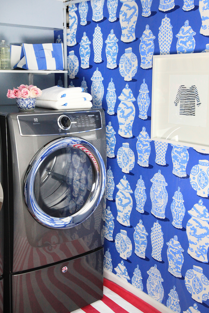 A whimsical laundry room makeover