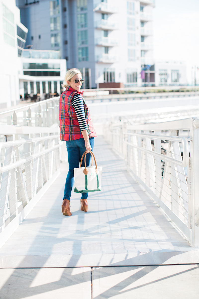 Lands End Plaid Vest