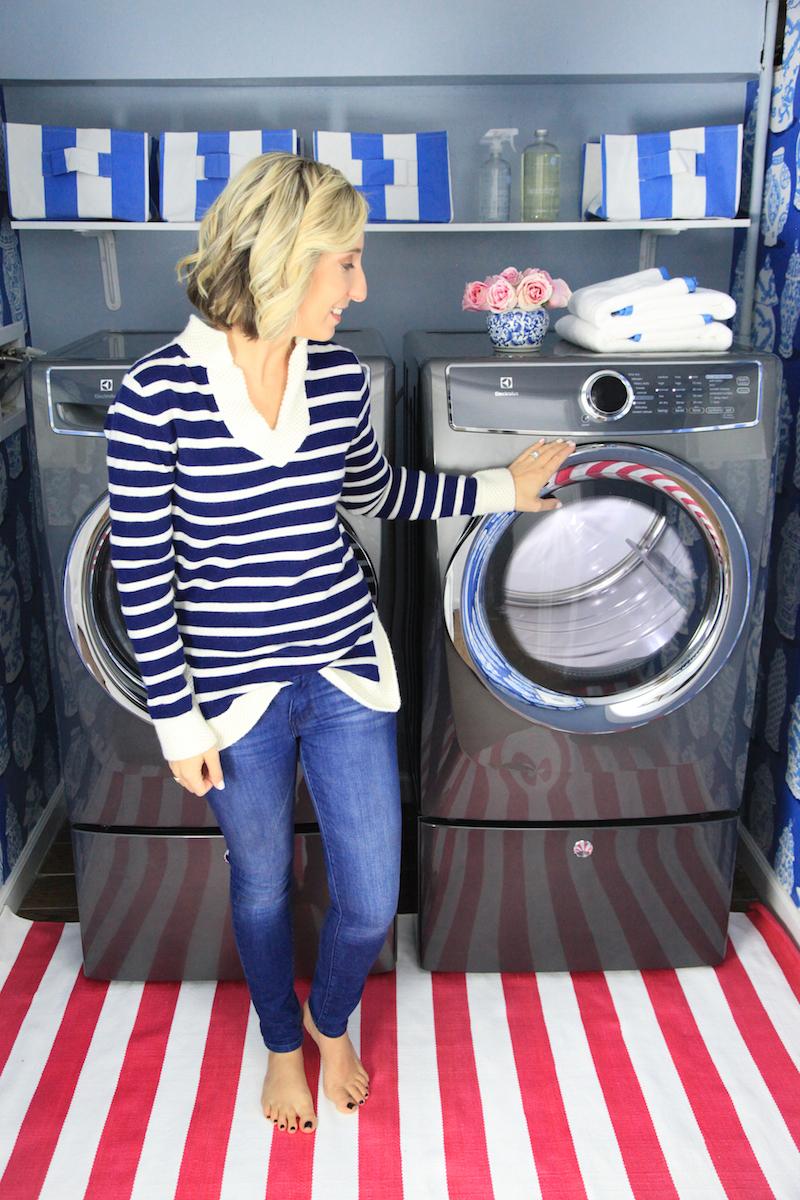 Lemon Stripes laundry room