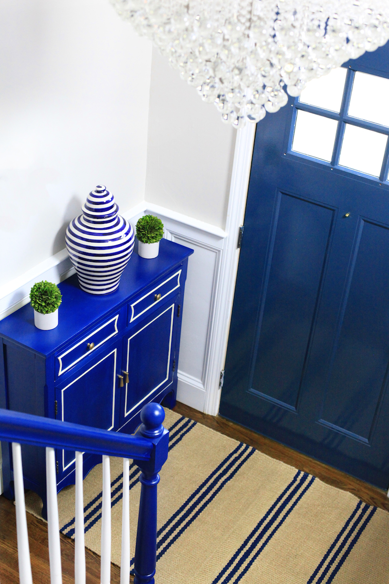 Navy Blue Entryway