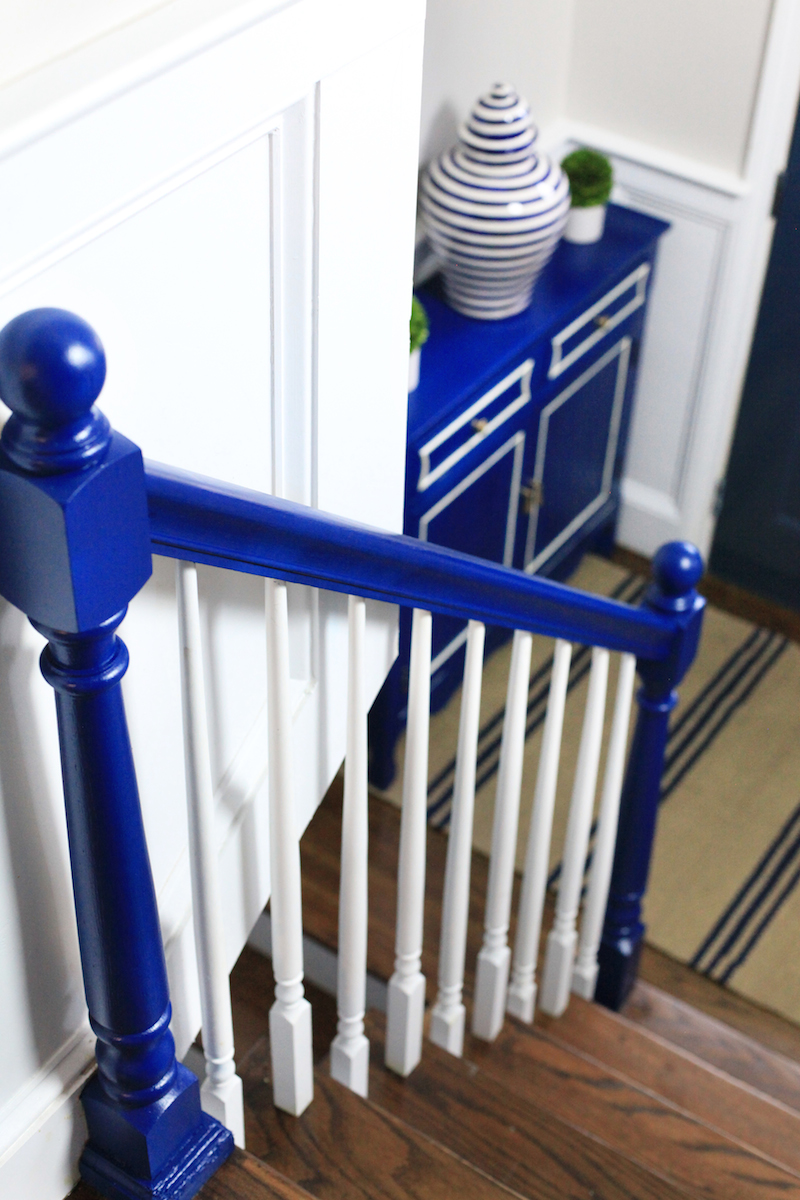 Navy Lacquer Bannister