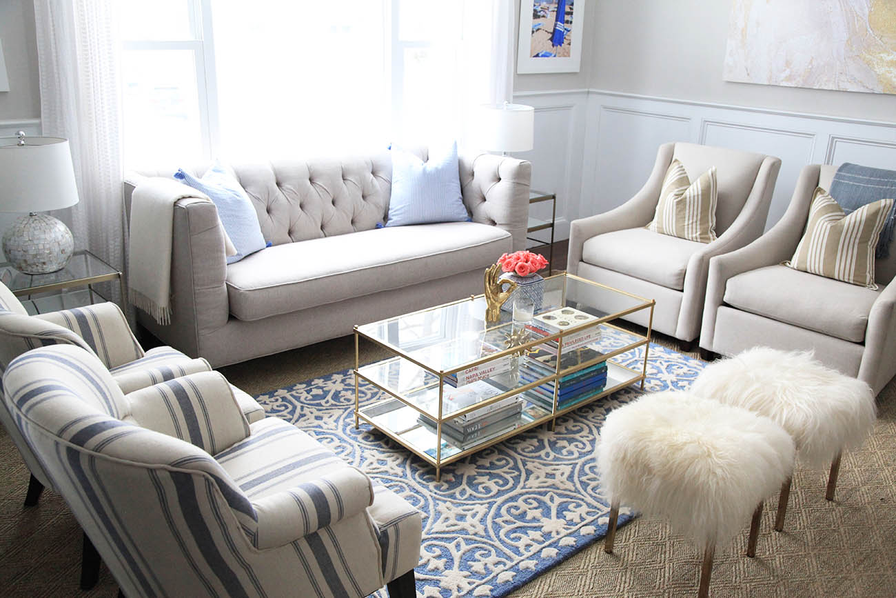 For a full list of products in the room, scroll down to the bottom of this  post, and be sure to check out Randi Garrett Design tomorrow for the next  updated ... - Living Room Refresh With Birch Lane