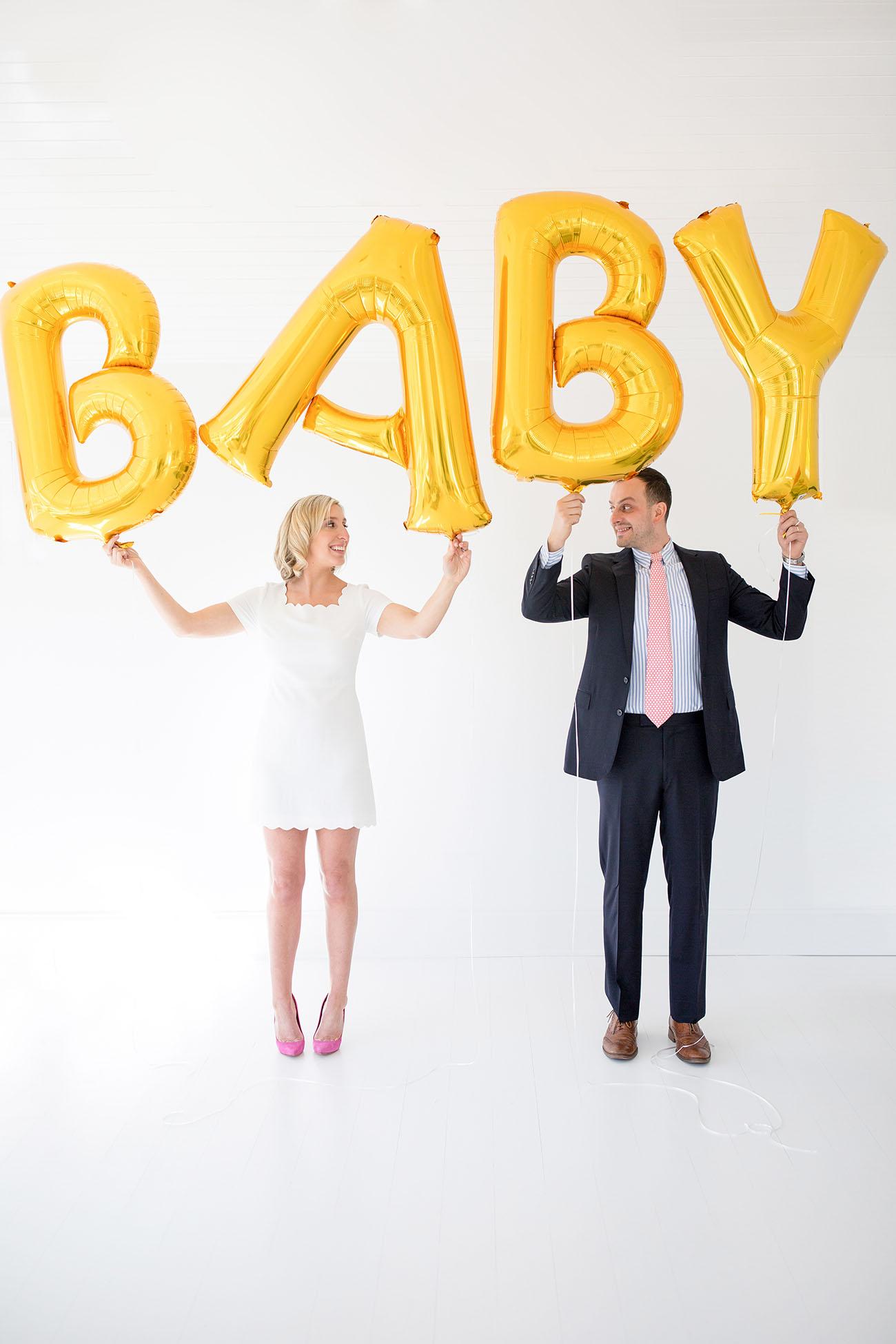 Lemon Stripes Baby Announcement
