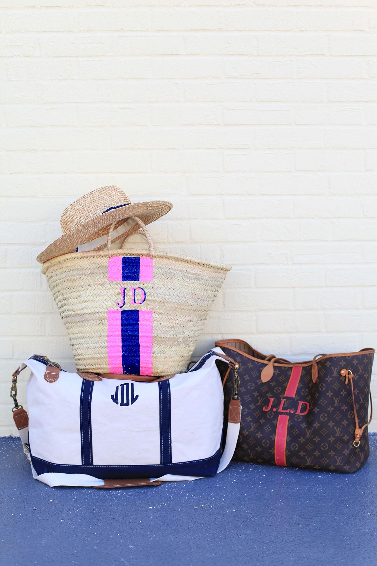 Monogrammed Travel Bags