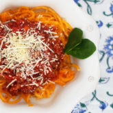 Turkey Bolognese with Sweet Potato Noodles